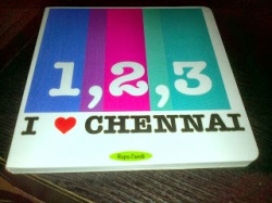 Madras Booklist - 123, I Love Chennai by Rupa Jacob