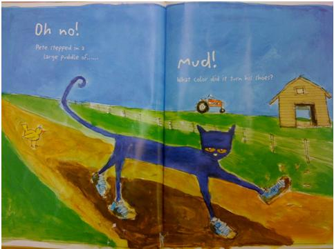 Pete the Cat I Love My White Shoes by Eric Litwin in a lesson plan by Rajeswari Devadass for Ever After's Creative Educator contest